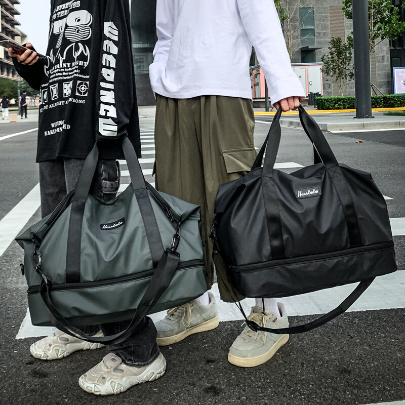 Portable bags men's large-capacity bags women's waterproof and lightweight students' short-distance travel bags fitness bags