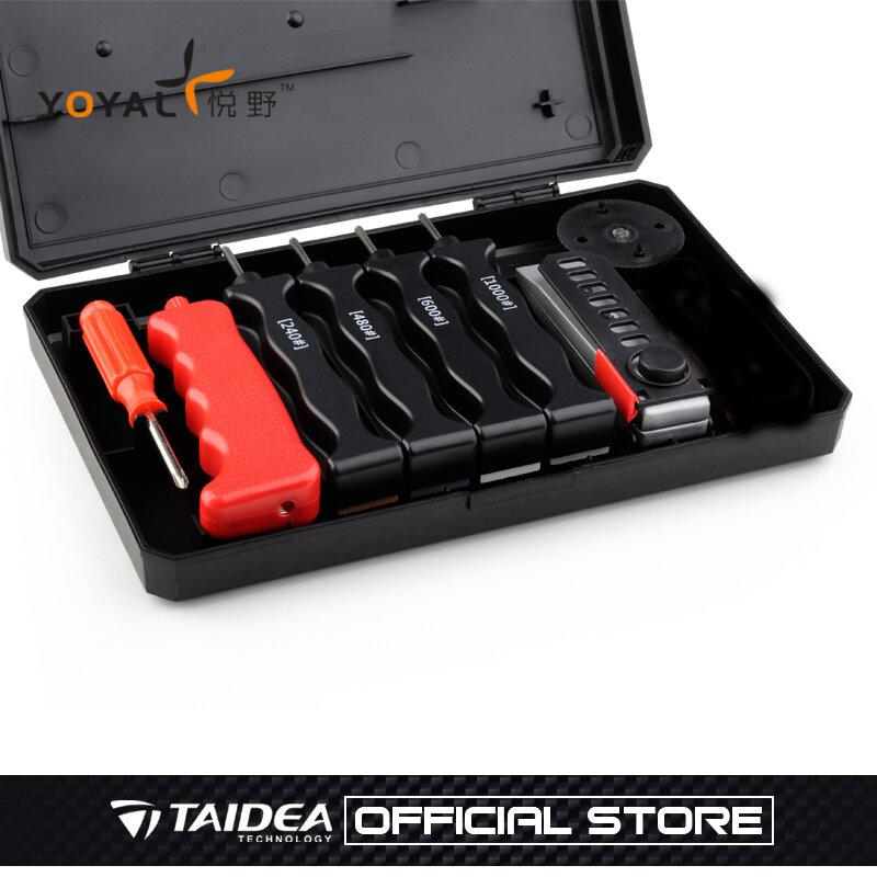 ขายร้อนมัลติฟังก์ชั่กลางแจ้งมีดมืออาชีพSharpener Apex Edge Pro T0932W Sharpeningระบบ 4 หินLansky TAIDEA