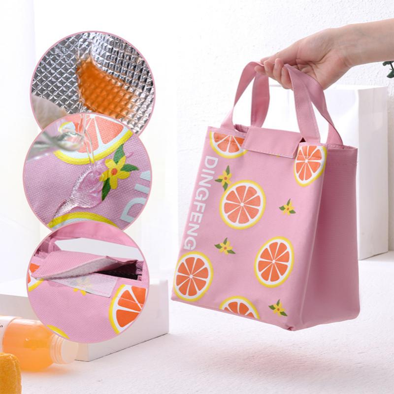 점심 가방 방수 옥스포드 천 소재 대용량 두꺼운 도시락 가방 학생 피크닉 여행 휴대용 단열 얼음 가방