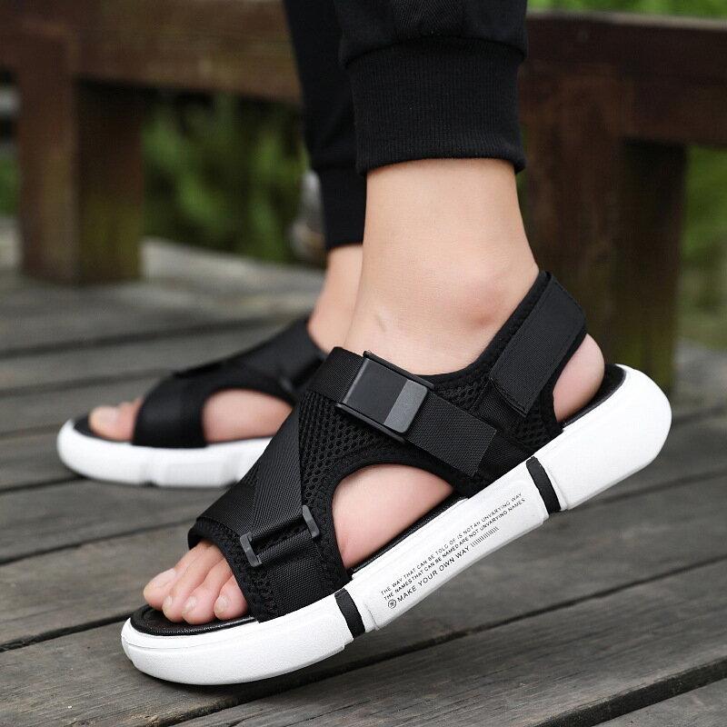 Herren Strand Sandalen Männer Römischen Stil Plattform Sandalen für Männer Casual Schuhe Sommer Sandalen Mode Billige Schuhe Mann Ledersandalen