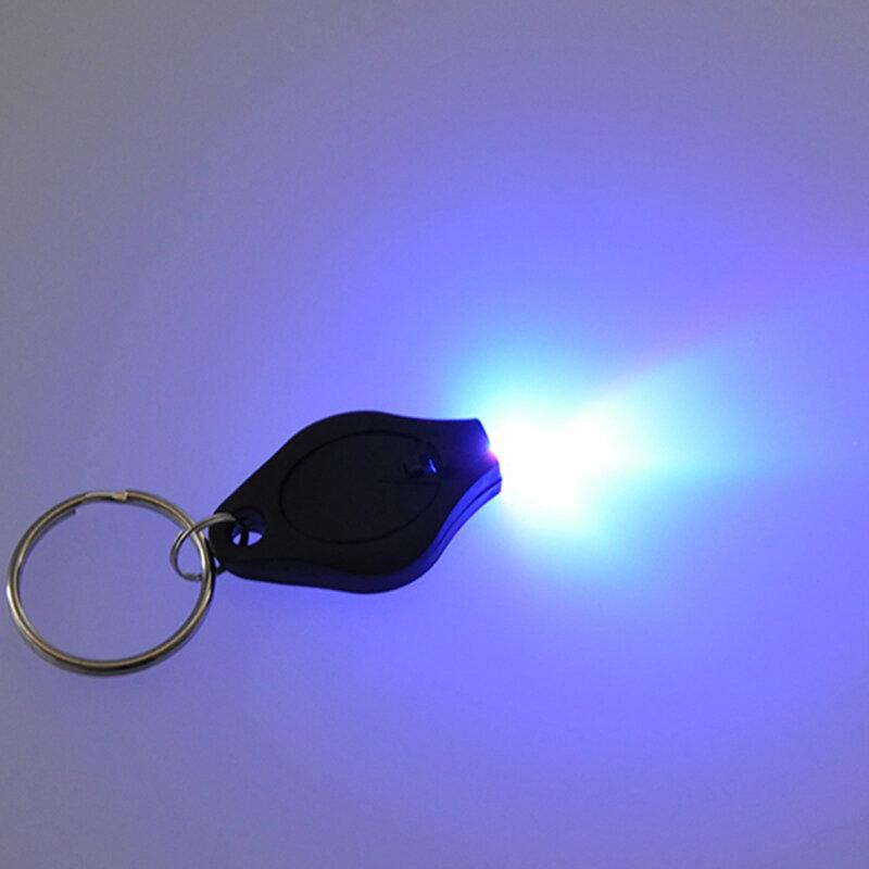 395nm UV Mini Keychain LED Taschenlampe Förderung Geschenke Licht Lampe Schlüssel Ring Licht Taschenlampe Schwarz Licht 365NM Uv Detektor