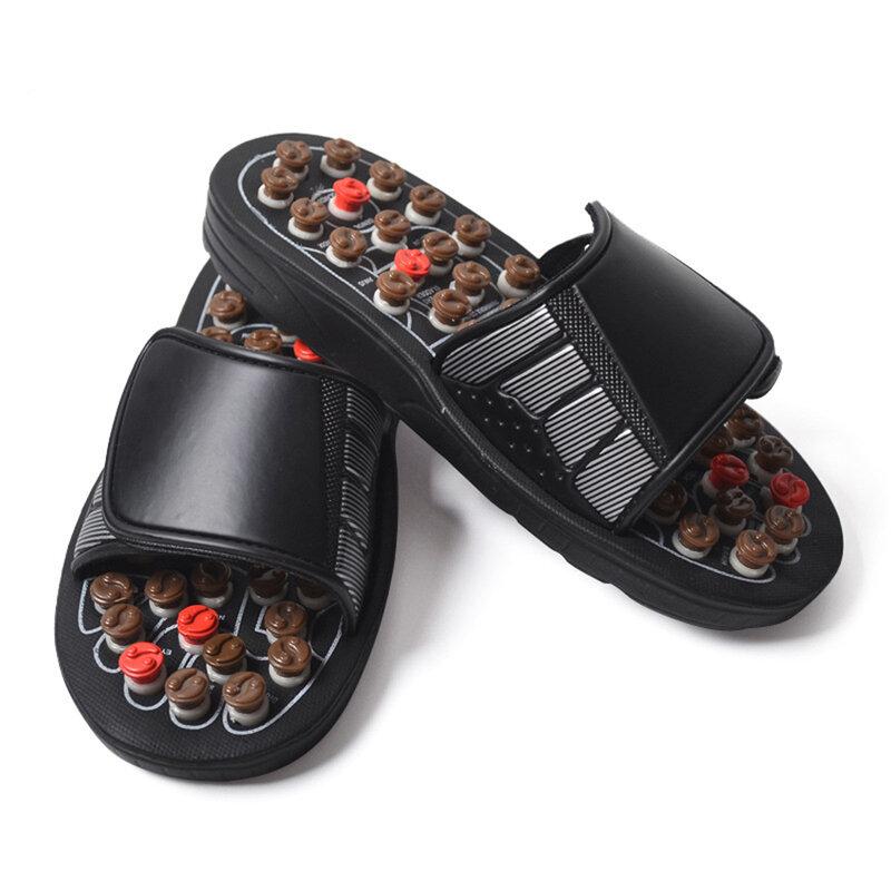 Chaussures de Massage pour hommes, médecine chinoise, pédicure, acupuncture, traitement des pieds, pantoufles de maison