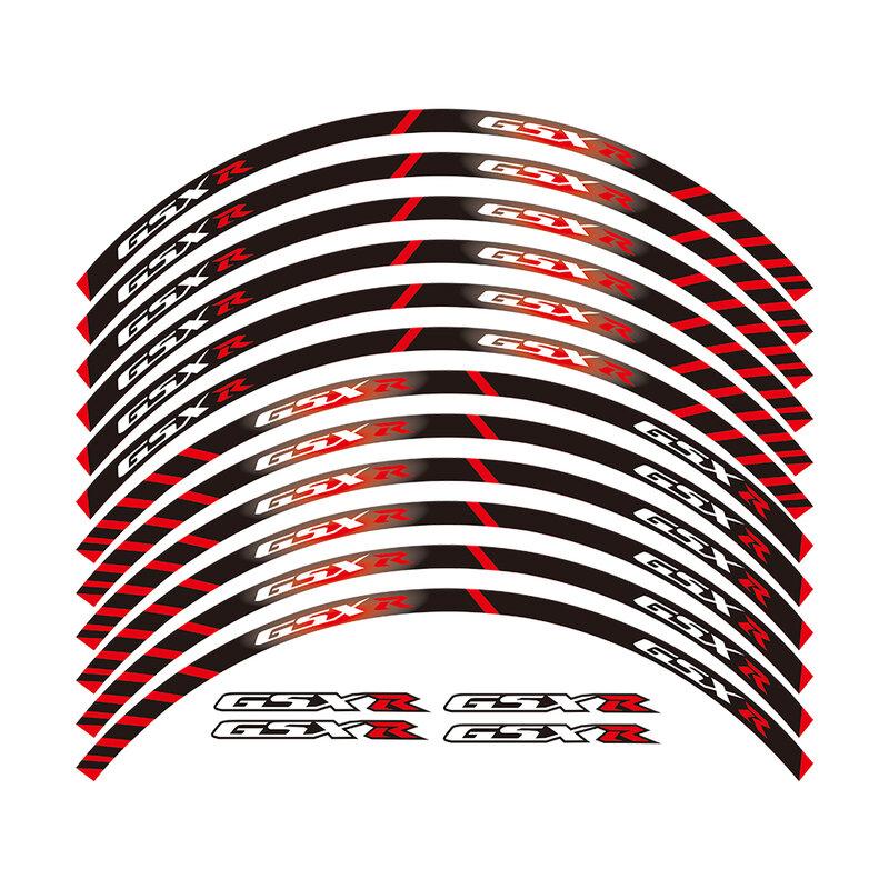 12 X Borde Grueso En El Borde Exterior De La Etiqueta Engomada De Rueda De Calcomanías Para Todos Los Suzuki Gsxr 250 400 600 1000 750 Gsxr1000r Gsxr1000 Gsxr600 750