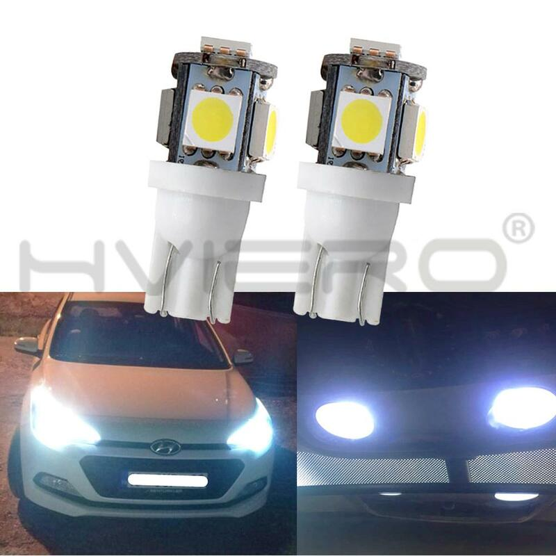 10X 5050 5SMD 자동 Led 자동 램프 인테리어 조명 168 194 LED DC 12V 라이센스 플레이트 전구 통관 램프 5led 마커 Led Cob led