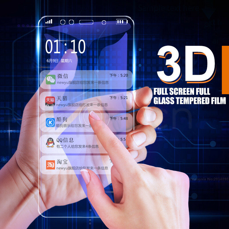 9D Full Screen Protective Glass For Redmi Note 6 5 5A 4 4X Pro For Xiaomi Redmi 5 Plus 5A 6 6A 4X S2 Go K20 Tempered Glass Film