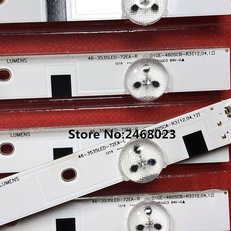 """Tira de LED para iluminación trasera para SAM SUNG 46 """"TV BN96-24110A BN96-24111A D1GE-460SCA-R2 D1GE-460SCB-R2 A12487A S130425D"""