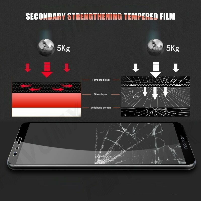 واقي شاشة من الزجاج المقوى 9H لهاتف Huawei honor 8 9 Lite V9 Play view 10 V10 Honor 7X 7A 7C 7S