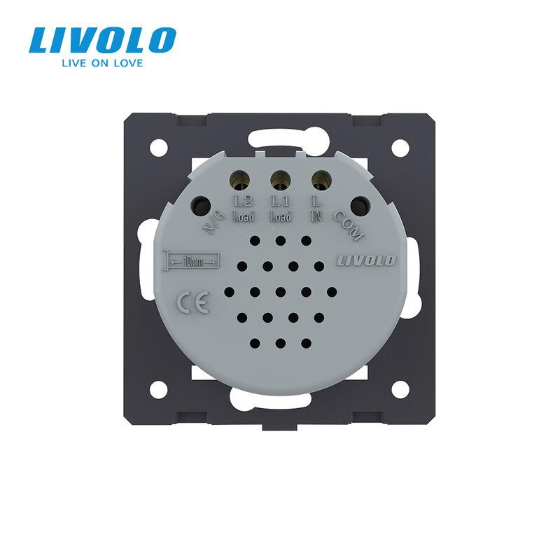 LIVOLO الاتحاد الأوروبي الموحدة ، AC 220 ~ 250V قاعدة الجدار الخفيفة تعمل باللمس التبديل ، 2 عصابة 1Way ، VL-C702