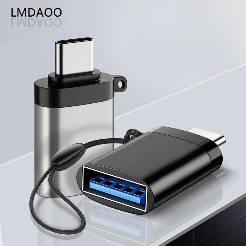 LMDAOO USB C OTG Adapter Fast USB 3.0 to Type C Adapter for MacbookPro Xiaomi Huawei Mini USB Adapter Type-C OTG Cable Converter