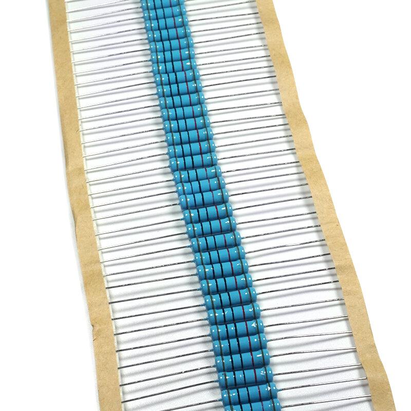 20 piezas 2W resistencia de película de Metal 1% 1R ~ 1M 2.2R 4.7R 10R 22R 47R 100R 220R 470R 1K, 10K, 100, K 2,2, 4,7 10 22 47, 100, 220, 470 ohm