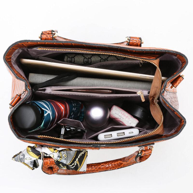 OLSITTI Retro High Quality Large Fashion Leather Shoulder Bags for Women 2021 New designer bag Casual Travel Ladies Handbags