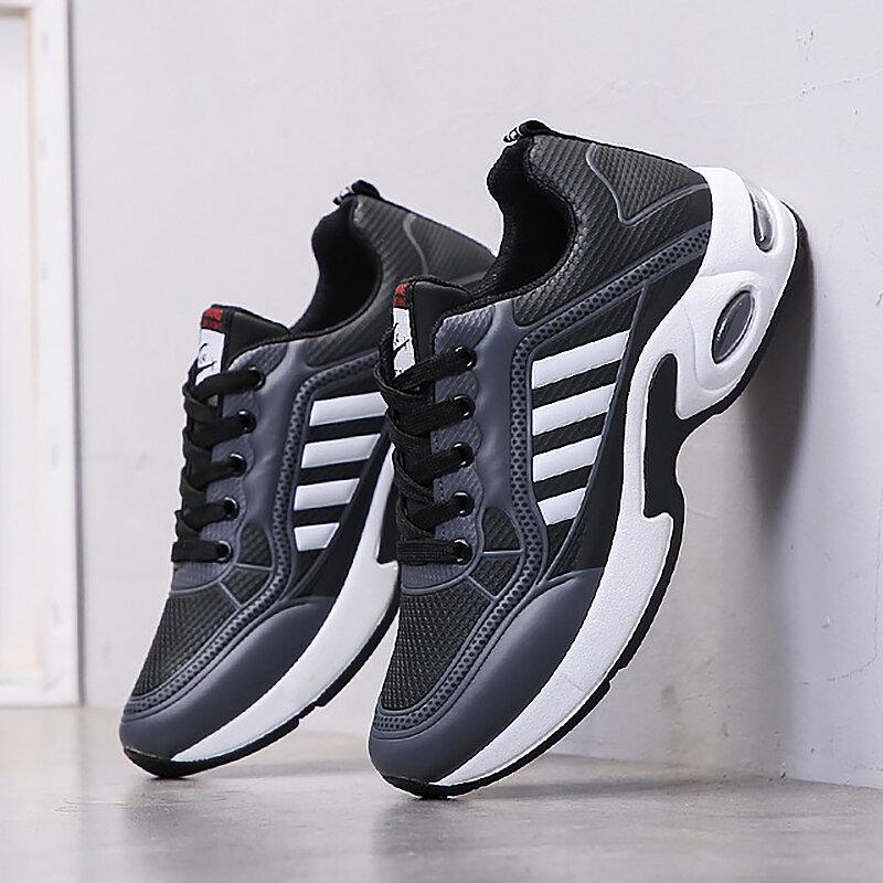 Mode respirant hommes chaussures décontractées en plein Air baskets pour hommes confortable coussin d'air chaussures homme étudiant Tenis Feminino Zapatos