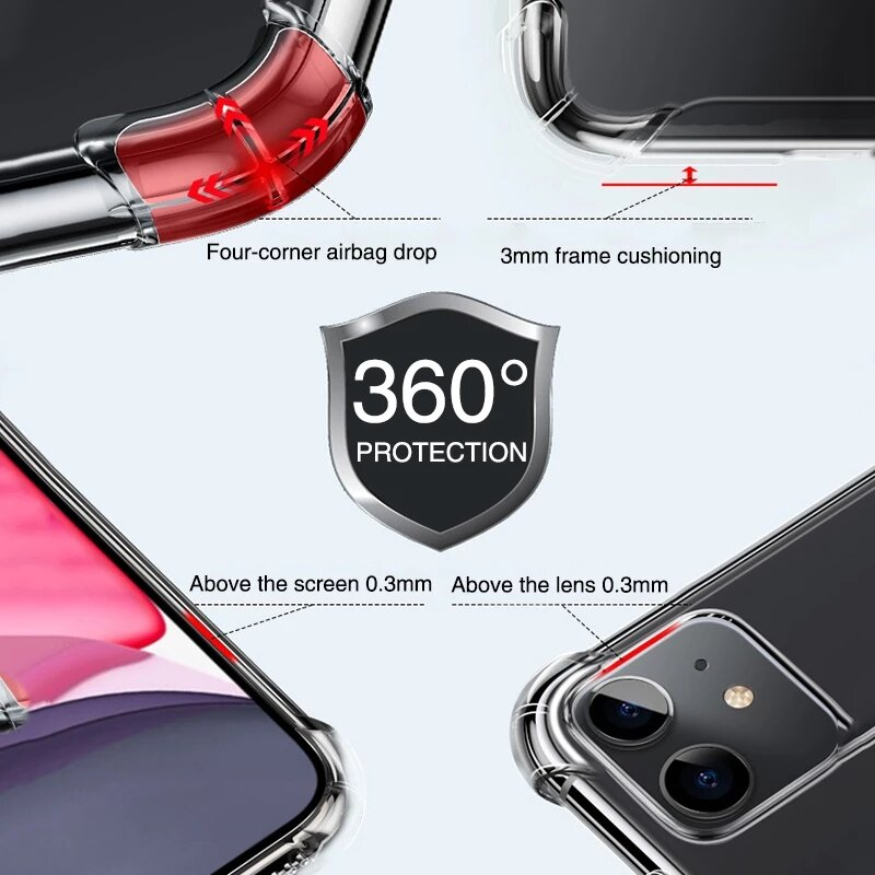 Magnetic Wireless Charging Case For iPhone 13 12 11 Pro Max Mini Shockproof Cover XR X XS 7 8 Plus SE Back Strong Magnet Sticker