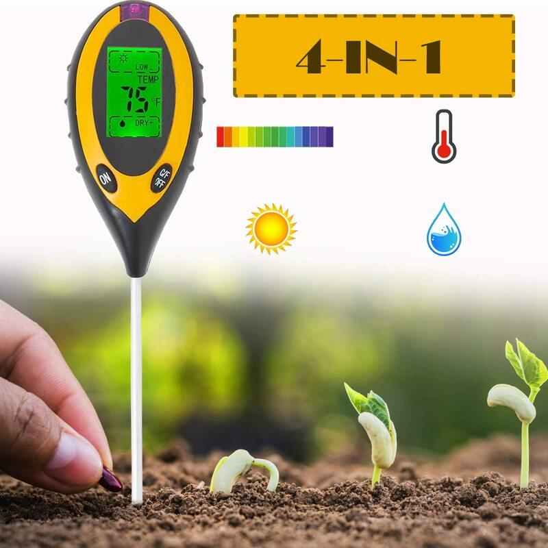 Boden pH Tester, 3/4 in 1 PH Licht Feuchtigkeit Säure Tester Boden Tester Feuchtigkeit Meter Anlage Boden Tester Kit für Blumen