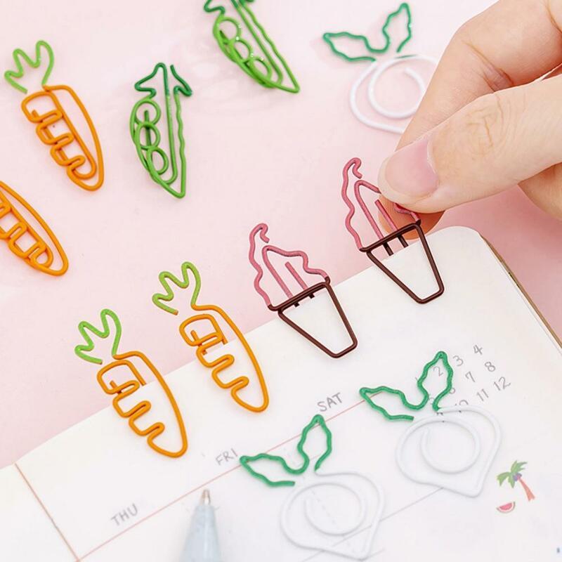 Carota gelato piselli forma di rapa segnalibro porta biglietti di cancelleria graffetta