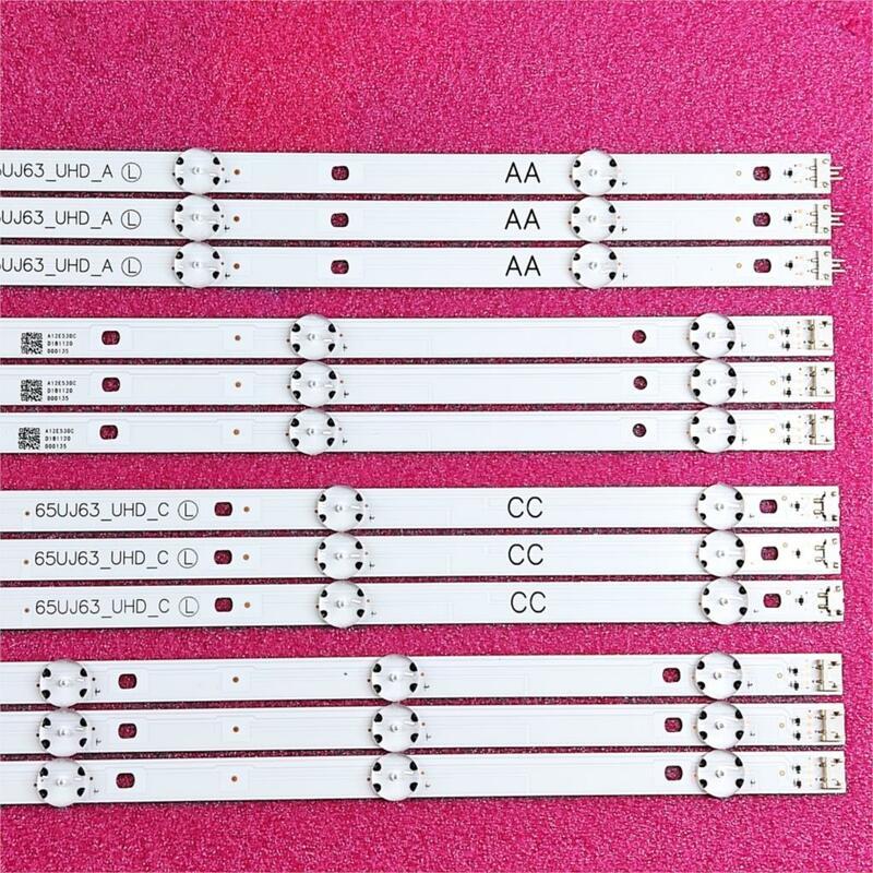 12 unids/set tira de LED para iluminación trasera para LG 65UJ6300 65UJ630V 65UJ634V 65UJ5500 65UK6100 Innotek 17Y 65inch_A SSC 65UJ63_UHD_A, B, C, D