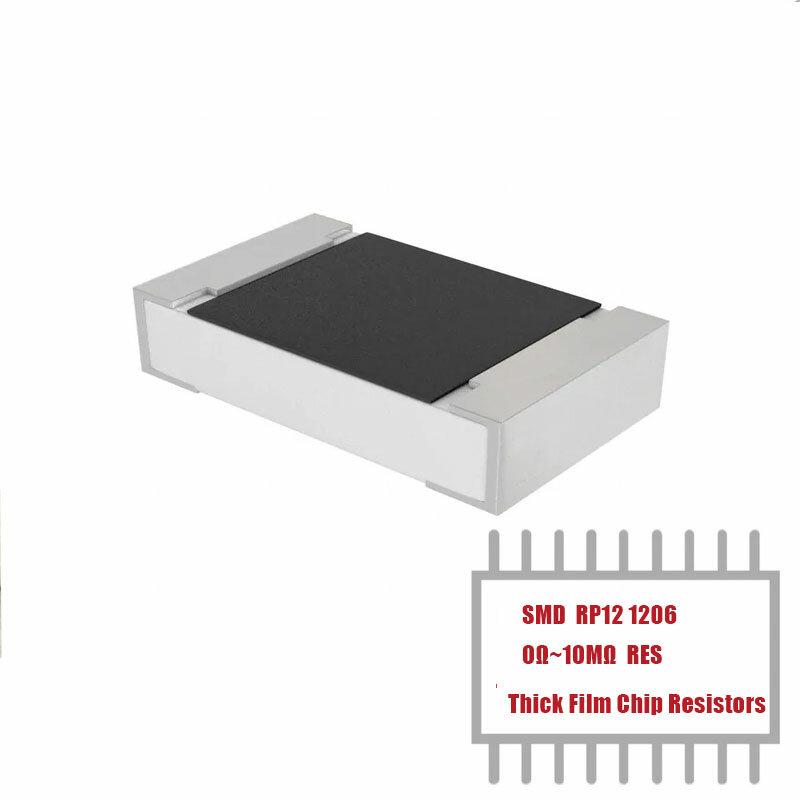 MyGroup Asia 1000 Uds RP12 0,25 W 200V-400V 0 Ohms 1K 10K 100K 200K 1206 SMD Chip de película gruesa resistencias en Stock