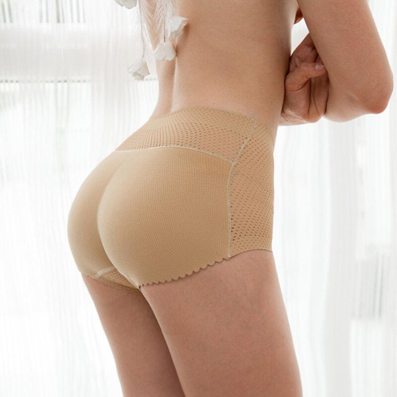Padded Butt Lifter Panty ควบคุม Tummy ไม่มีรอยต่อกางเกงด้านล่างฟองน้ำปลอม Enhancer Push Up สะโพก Pads ชุดชั้นใน Shapers