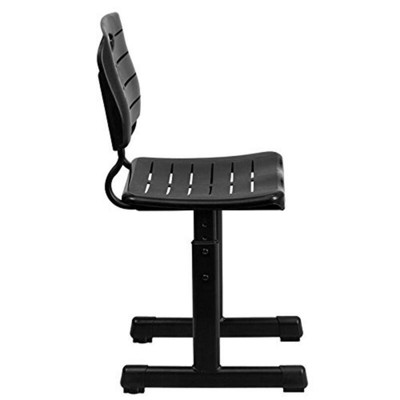 조정 가능한 학생 어린이 책상과 의자 세트 검은 학생 학교 책상과 의자 세트