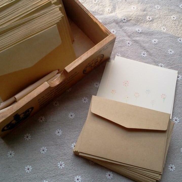 Sobre de papel Kraft Vintage Simple para estudiantes, sobres de regalo hechos a mano para boda, 160x110mm, proveedor para escuela y oficina, 50 unids/lote