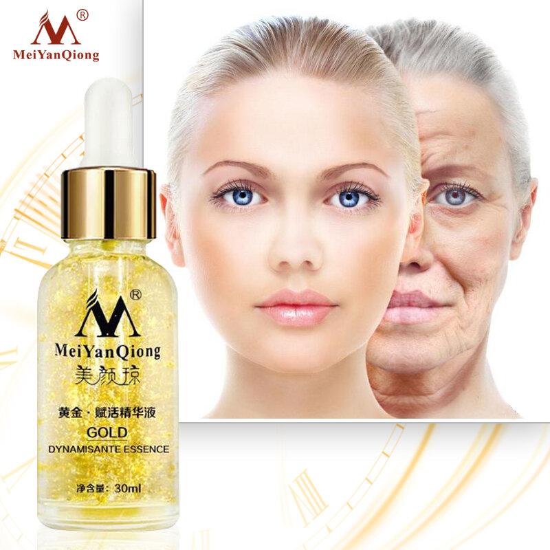 Crema de día para el cuidado de la piel, esencia de oro de 24K, antiarrugas, cuidado facial, antienvejecimiento, colágeno, blanqueamiento, ácido hialurónico hidratante