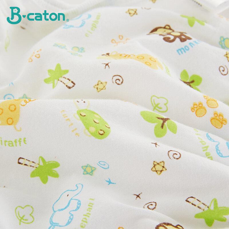 Pañales Reutilizables Para Bebé Pantalones De Tela De Algodón Cintura Alta Protección De Cable Umbilical Elástica Suave Tpu Impermeable Pañales Y Preparación Para El Wc