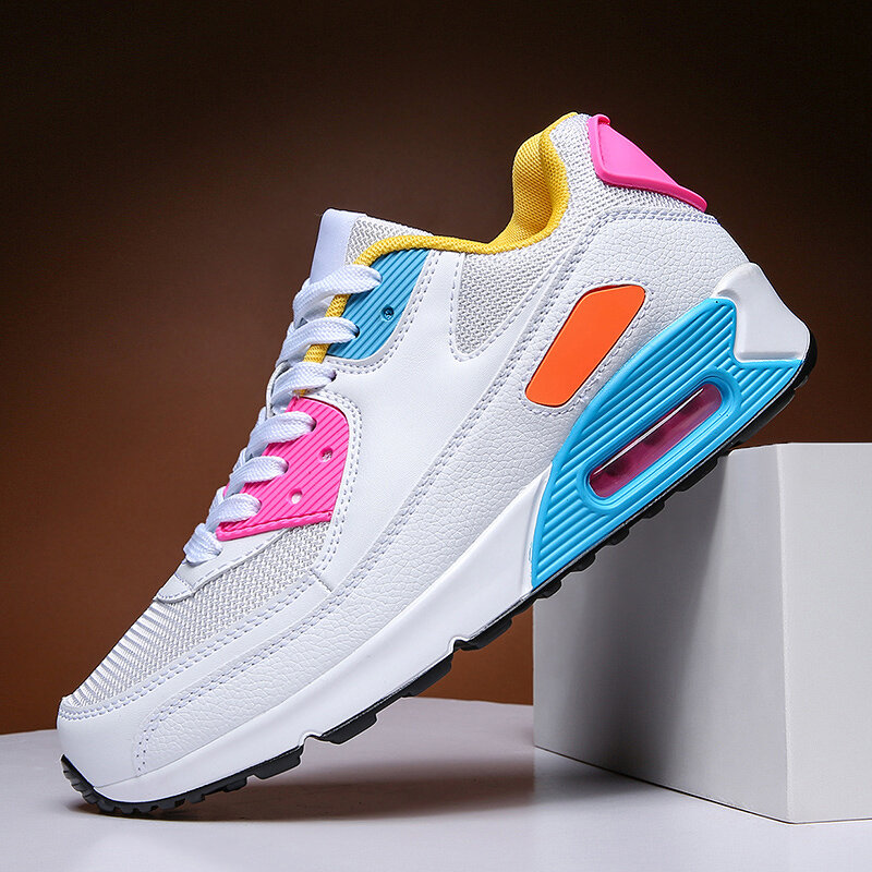 Chaussures de sport légères et respirantes pour hommes, baskets à coussin d'air, à la mode, pour Couple, de Jogging, de sport, d'extérieur, de 36 à 47