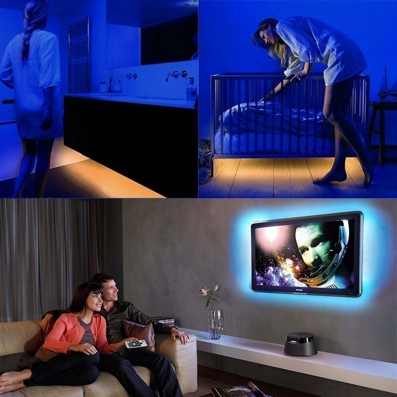LED 스트립 조명 RGB SMD2835 IR 원격 DC5V 1M 2M 3M 4M 5M USB 유연한 램프 테이프 다이오드 TV 벽 장식 백라이트 Led luces
