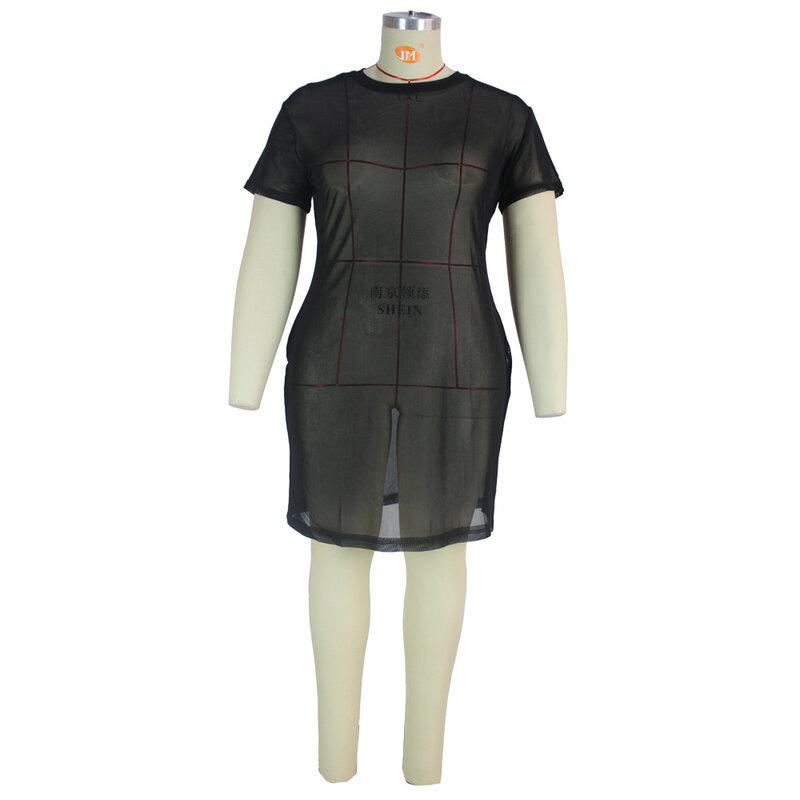 Il nuovo più i vestiti Sexy di L-5XL dell'abbigliamento di formato per la maglia all'ingrosso delle donne 2021 vede attraverso il Maxi Dropshipping di ...