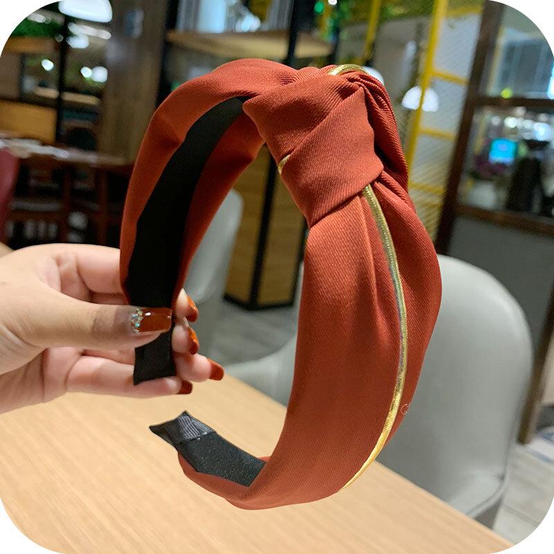 Internet Celebrity Face Wash Hair Bands Women's Hair Fixer Wide Brim Hair Tie Headband Headdress Simple Graceful Korean