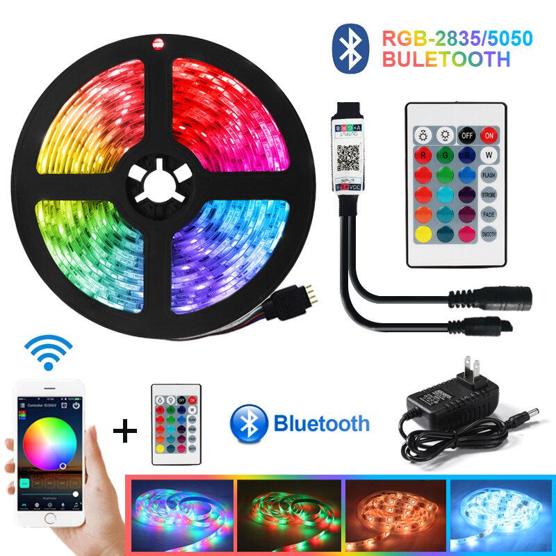 Tira de luces LED SMD2835 cinta de luces de diodos DC12V, resistente al agua, Flexible, WiFi, RGB, Iuces, Bluetooth 5050
