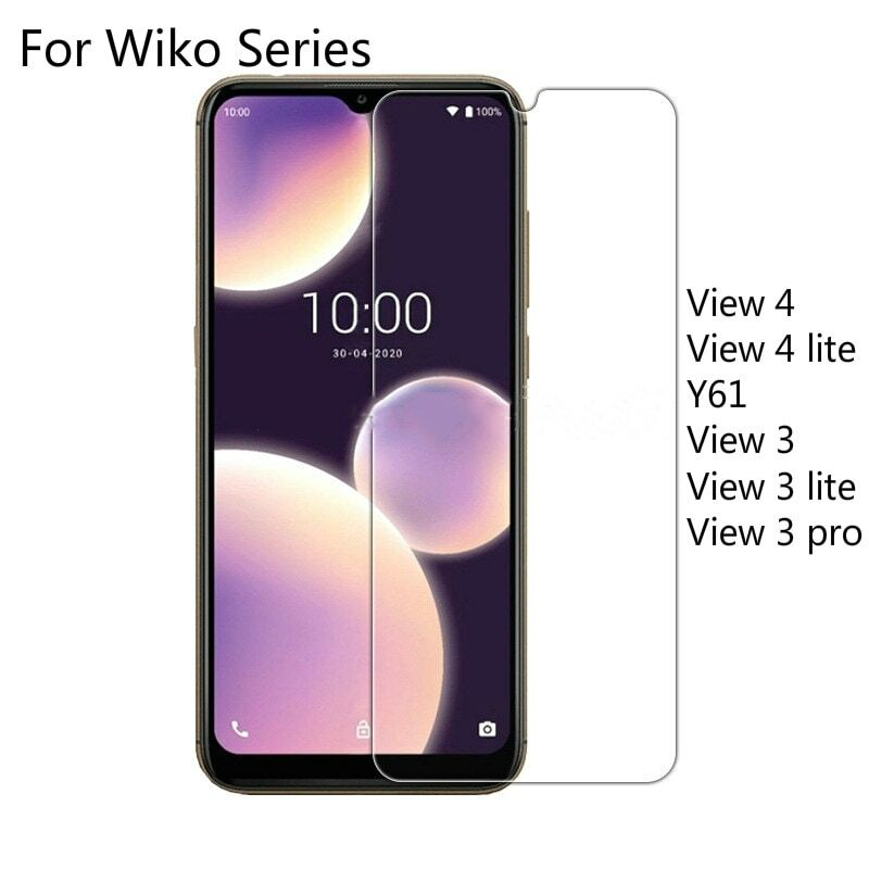 2 Pieces Tempered Glass For Wiko View 4 Lite View 4 Y61 Screen Protector 2.5D 9H For Wiko View 3 Lite Pro Protective Film Glass