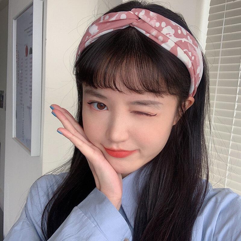 2021 New Internet Celebrity Face Wash Headband Korean Headwear Mori Girl Headband All-Match Simple Women's Headwear for Going