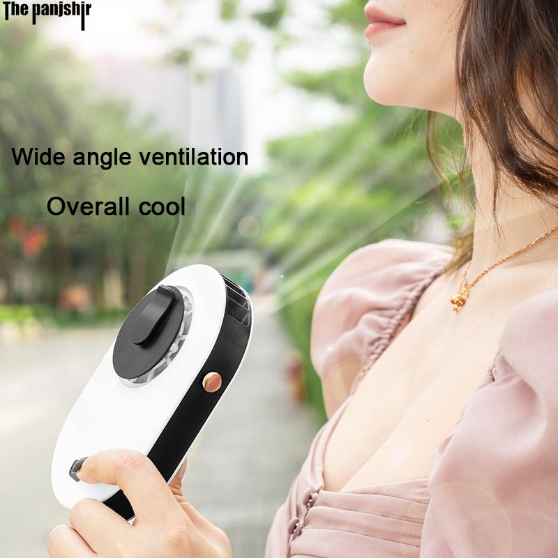 Neue Hängen Tragbare Wiederaufladbare mit Einstellbare Lanyard Ruhigen Kraftvollen Kühlung Mini Fans Handheld & Hände-Freies Fans 3 geschwindigkeit