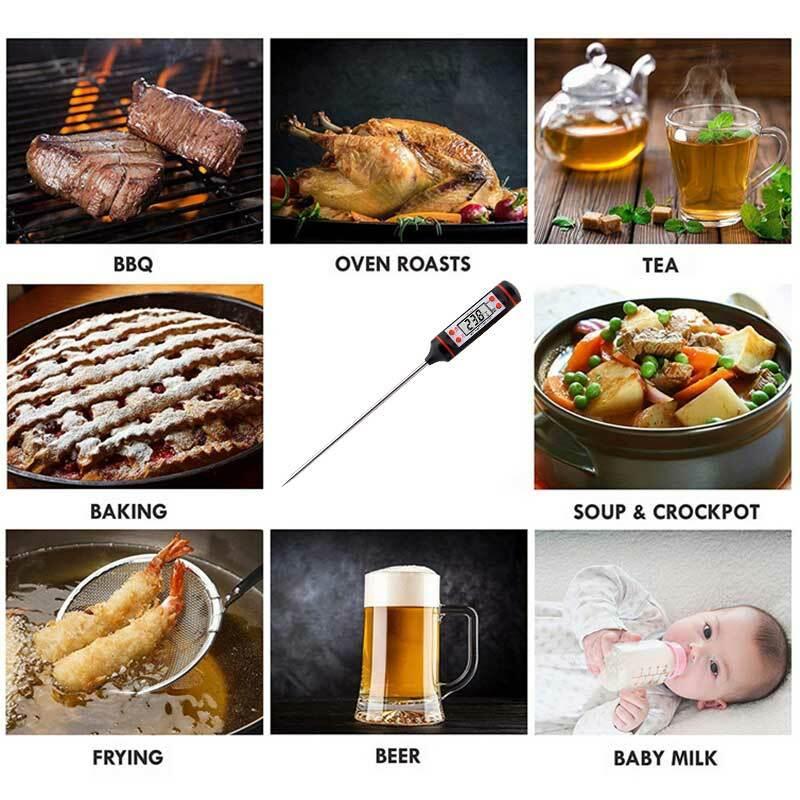 디지털 주방 온도계, 주방 음식 온도계 고기 우유 온도 온도계 오븐 온도계 측정 도구