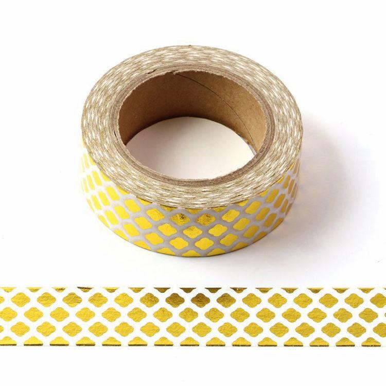 Lámina dorada de alta calidad, cinta de papel decorativa de 10m, cinta de puntos, piña, corazón de Navidad, 1 unidad