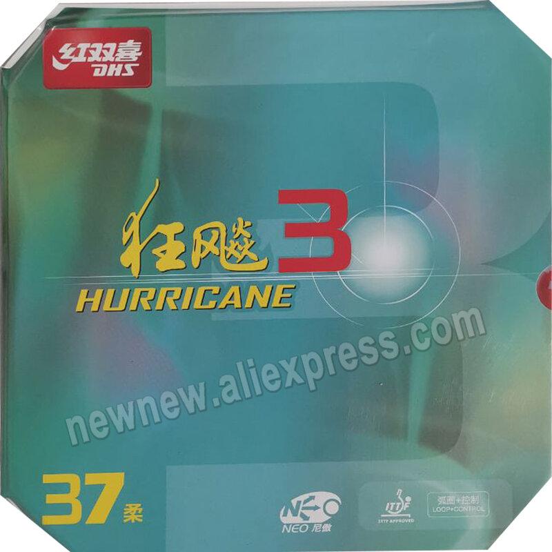 DHS NEO إعصار 3 NEO Hurricane3 NEO إعصار-3 بالنقاط ، في تنس الطاولة بينغبونغ المطاط مع البرتقال الإسفنج 2.15-2.2 مللي متر
