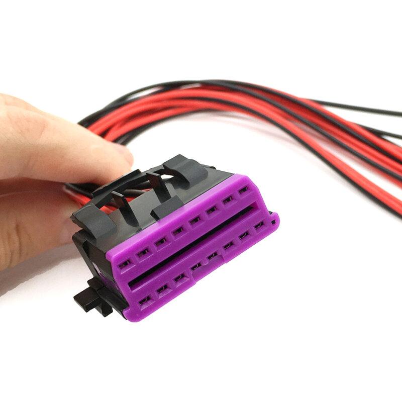 สำหรับVWสำหรับAudi OBD 40 พินหญิงOBD40 Connectorเต็มรูปแบบสายสายไฟ ...