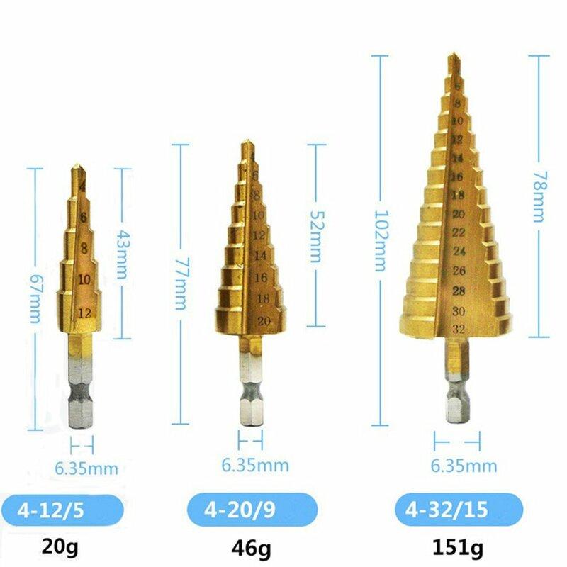 Hohe Qualität 4241 Hexagonal gerade nut trat bohrer Titan Überzogen Spiral Nut Multi-funktion Bohrer Drop Verschiffen Verkauf