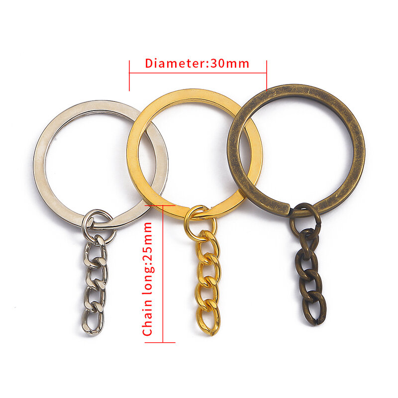 Wholesale 2000pcs Key Chain Rings Keychain  Split Key Ring DIY Jewelry Making split ring key chain finding
