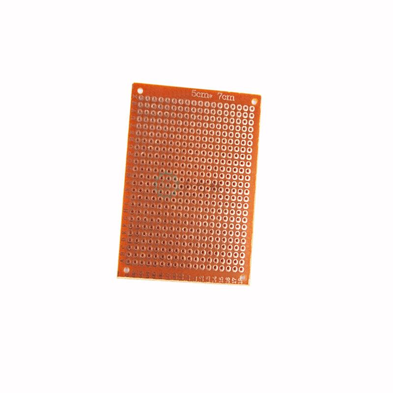5x7 5*7 سنتيمتر DIY بها بنفسك النموذج ورقة جانب واحد النموذج PCB العالمي مجلس التجريبية الباكليت لوح نحاسي الدوائر المجلس الأصفر