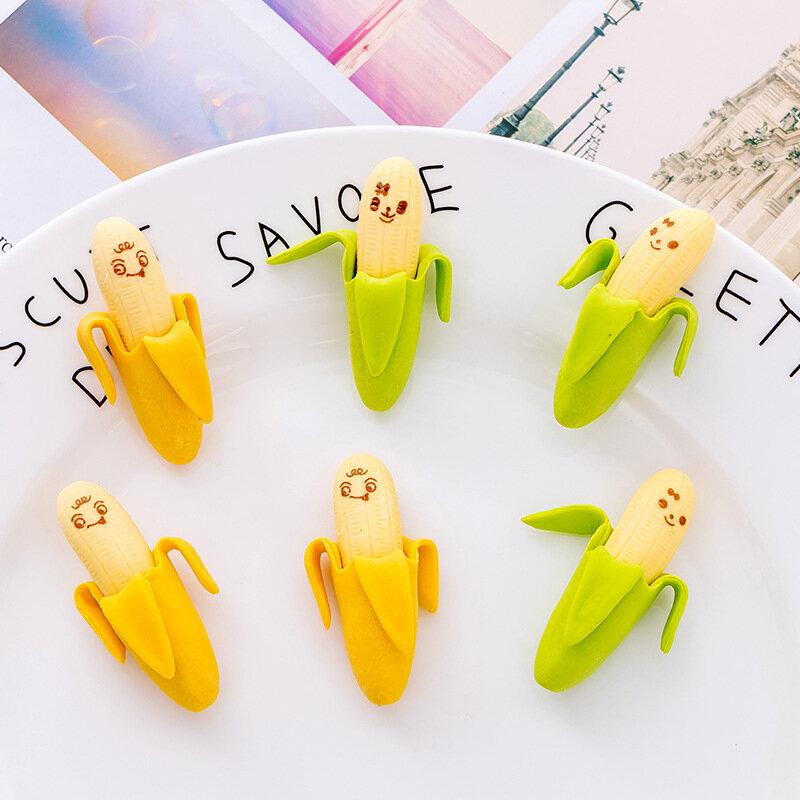 2 unids/pack creativo lindo plátano lápiz con motivos frutales novedad en borradores niños estudiante aprendiendo Oficina papelería