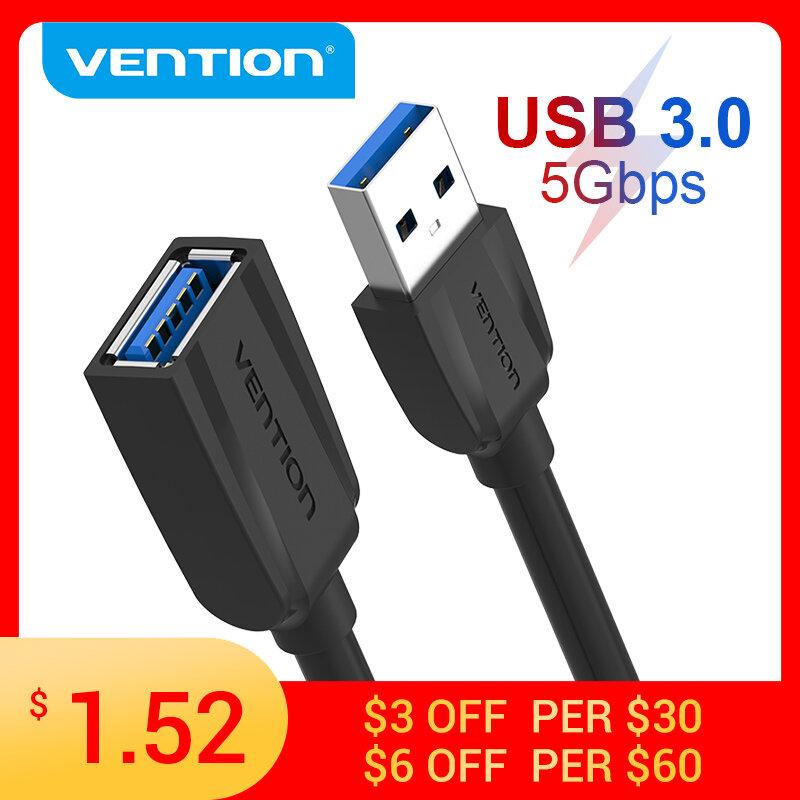 Vention – câble d'extension USB 3.0 mâle vers femelle, 3.0 2.0, pour PS4, Xbox, Smart TV, PC