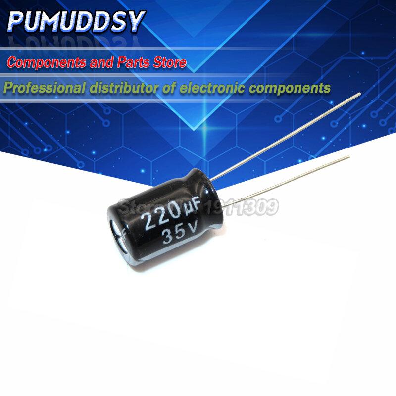 20PCS 고품질 35V220UF 8*12mm 220 미크로포맷 35V 8*12 전해 커패시터