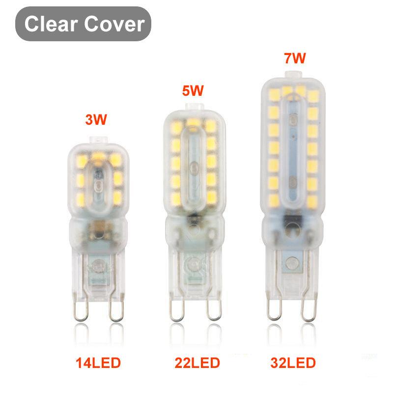 10pcs G9 LED 전구 조명 디 밍이 가능한 스포트 라이트 2835SMD Bombilla 3W 5W 7W 교체 30W 40W 할로겐 램프 홈 침실 220/110V