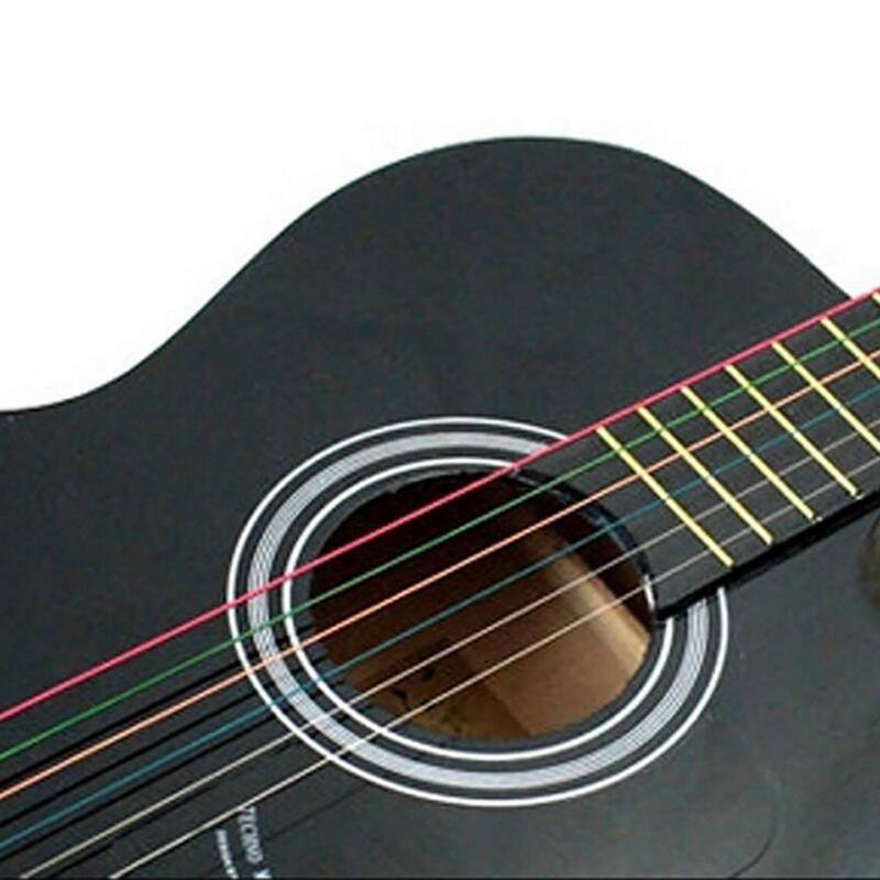 Perfect 1ชุด6ชิ้น/เซ็ต Universal สายรุ้งสีสันสายกีตาร์เหล็กชุดเปลี่ยนสำหรับ Acoustic Folk กีตาร์คลาสสิก