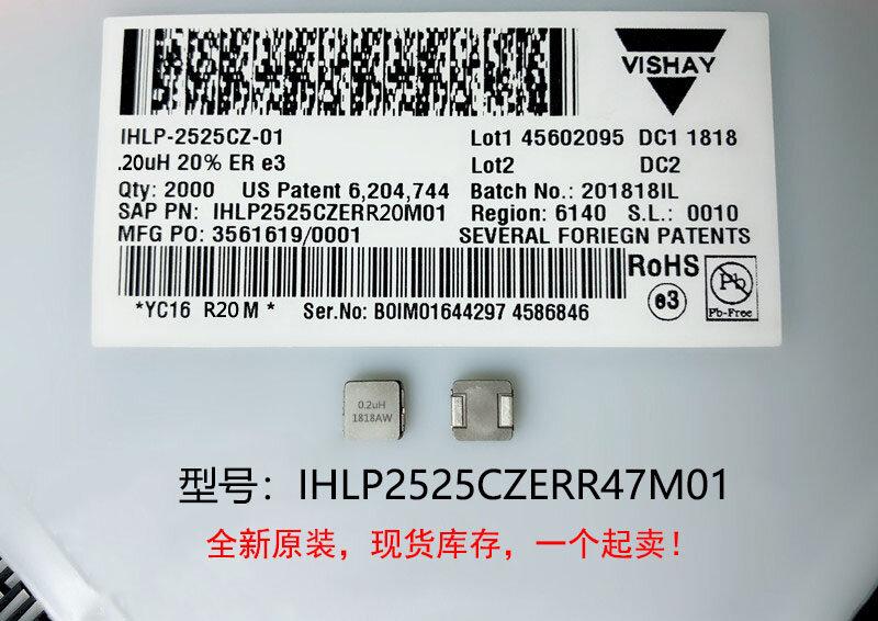 (10) inductores de alta corriente integrados, alta calidad, 100%, IHLP2525CZERR47M01, 0,47 uh, 7x7x3mm