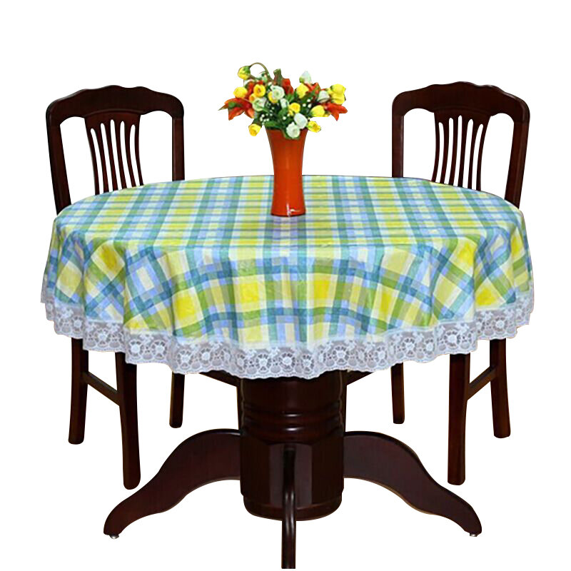 Pastoralผ้าตารางรอบพลาสติกกันน้ำกันน้ำตารางดอกไม้พิมพ์ลูกไม้Edge Anti Hot Coffeeผ้าปูโต๊ะ