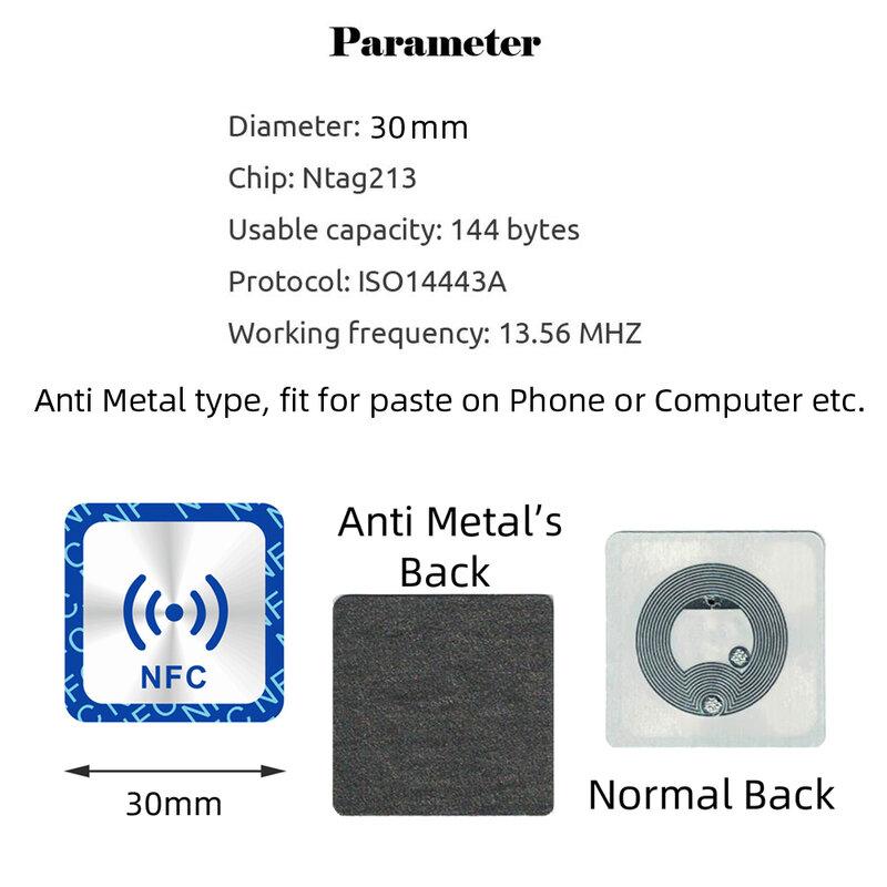 6 قطعة NFC Ntag213 علامة ملصقا التسمية Ntag 213 لهواوي 13.56MHz العالمي RFID مفتاح رمز باترول خفيفة الكلمات
