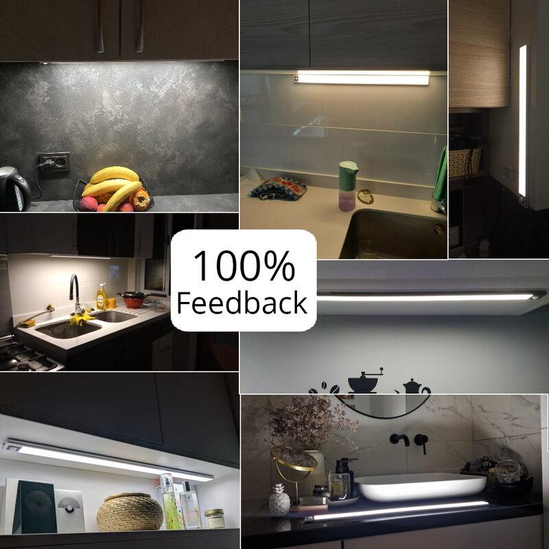 Zoyaloo 울트라 얇은 20/40/60cm LED 충전식 PIR 모션 센서 옷장 옷장 램프 캐비닛 알루미늄 램프 야간 조명